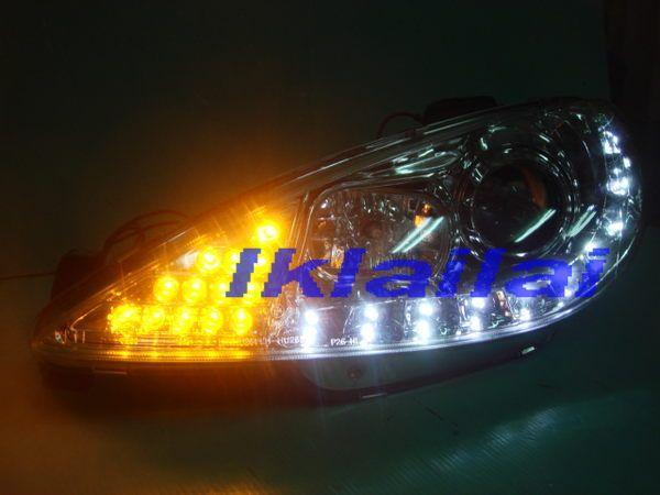 Peugeot 206 LED DRL R8 Projector Head Lamp LED CORNER