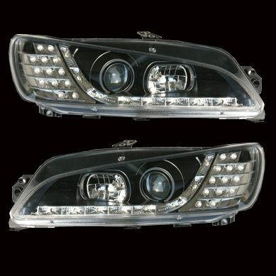 PEUGEOT 306 R8 Head Lamp + LED Corner Lamp [Black / Chrome Base]