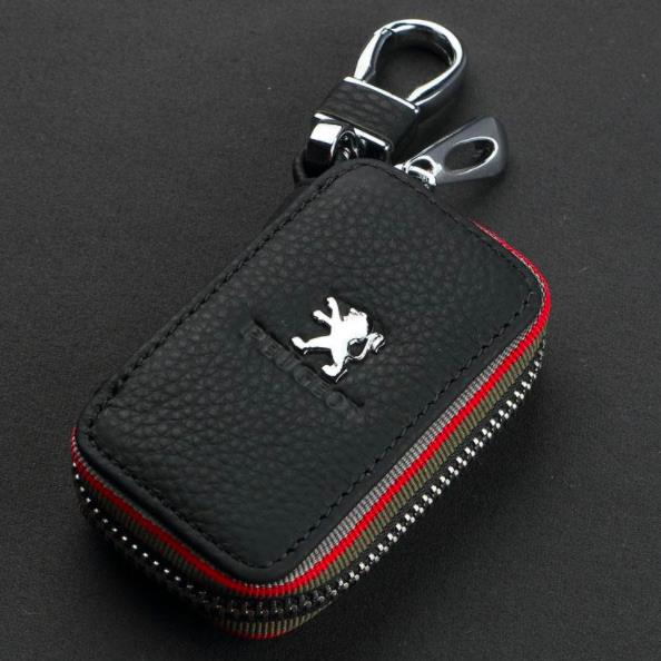 Peugeot Car Key Pouch / Key Chain/ Key Holder Genuine Leather (Type C)