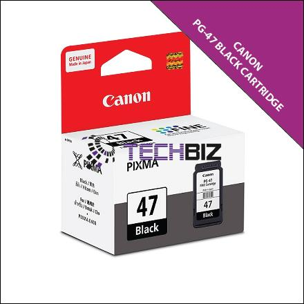 PG-47 BLACK CANON PIXMA INK CARTRIDGE