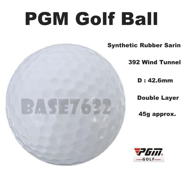 PGM 2  Layer Synthetic Rubber Sarin Golf Practice Ball 392 Wind Tunnel