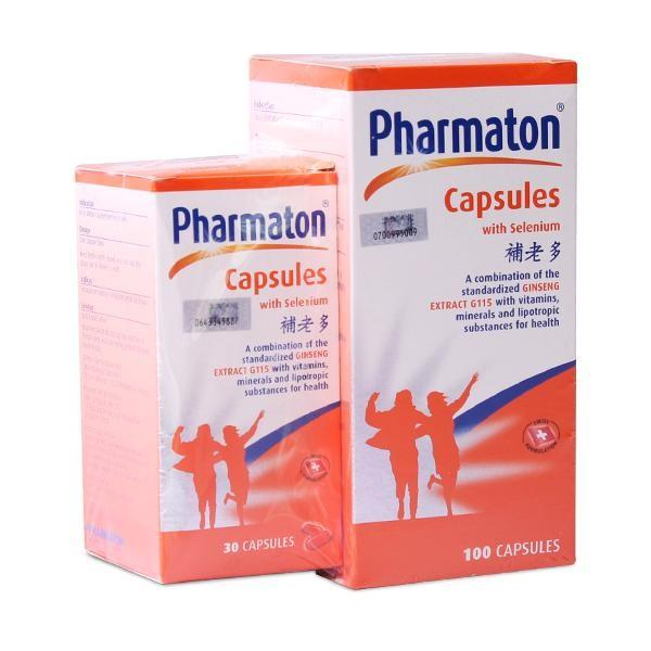 Pharmaton Capsules with Selenium 100s+30s