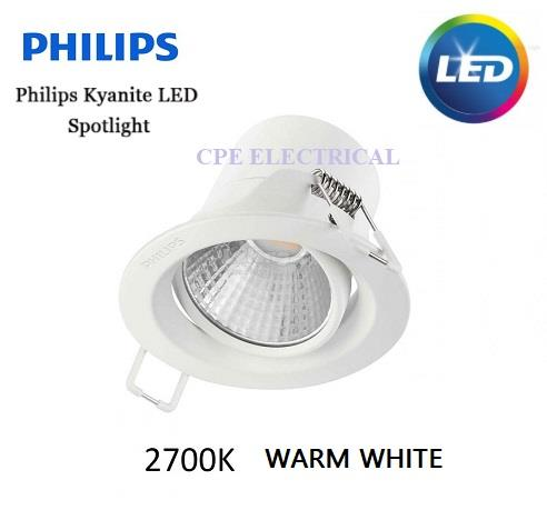 PHILIPS 59752 KYANITE 5W 300LM 2700K SYNTHEYTIC SPOT (Warm White)