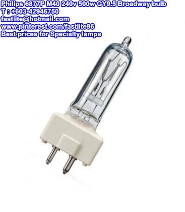 Philips 6877P M40 240v 500w GY9.5 Broadway Disco bulb