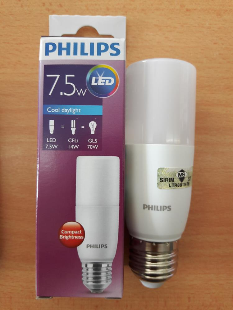 Led Daylight Bulb: PHILIPS 7.5W LED STIK BULB E27 DAYLI (end 10/1/2019 4:15 PM
