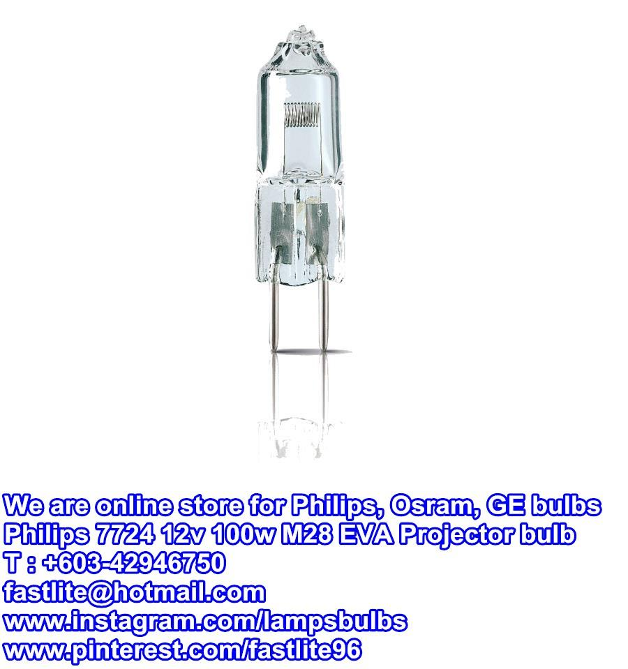 Philips 7724 12v 100w GY6,35 EVA M28 Dental Projection lamp
