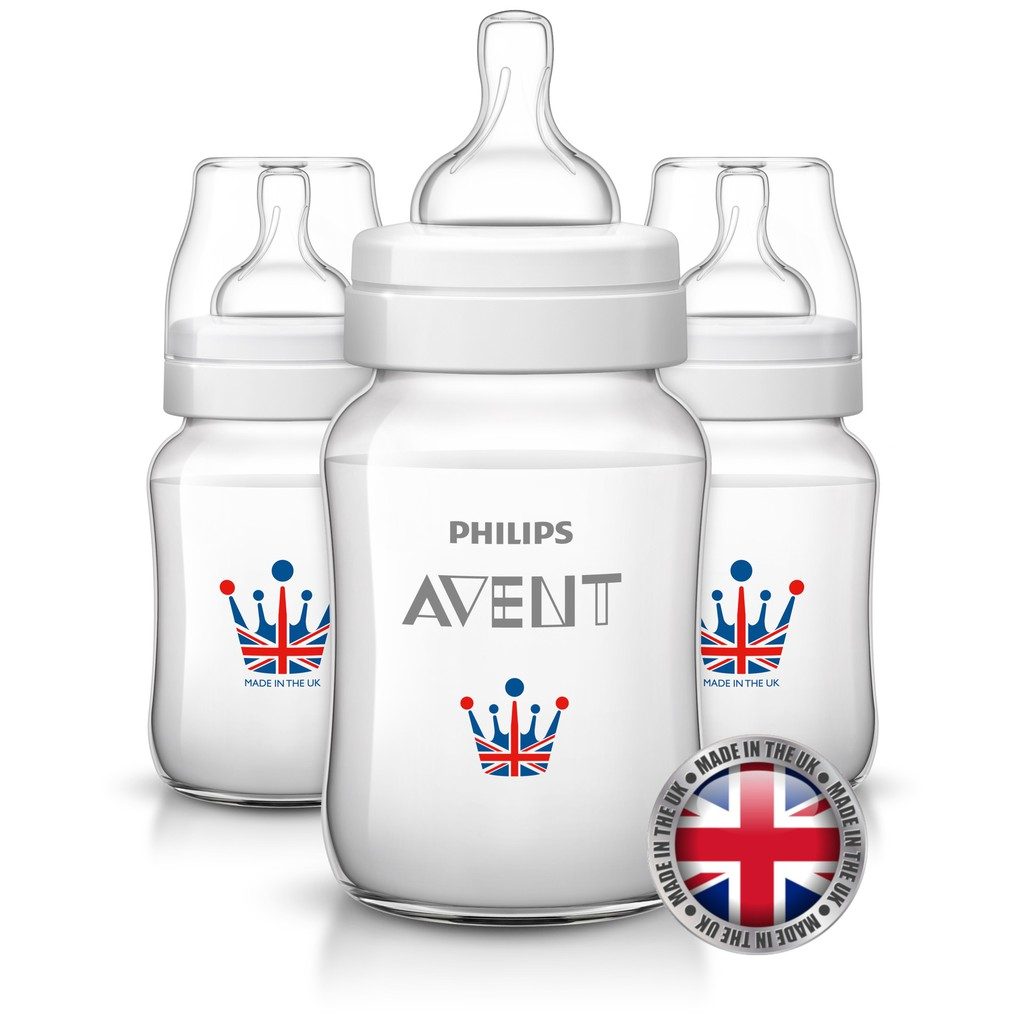 Philips Avent Bottles 3 X 9oz / 260 Ml Classic+ Plus ROYAL (PP)