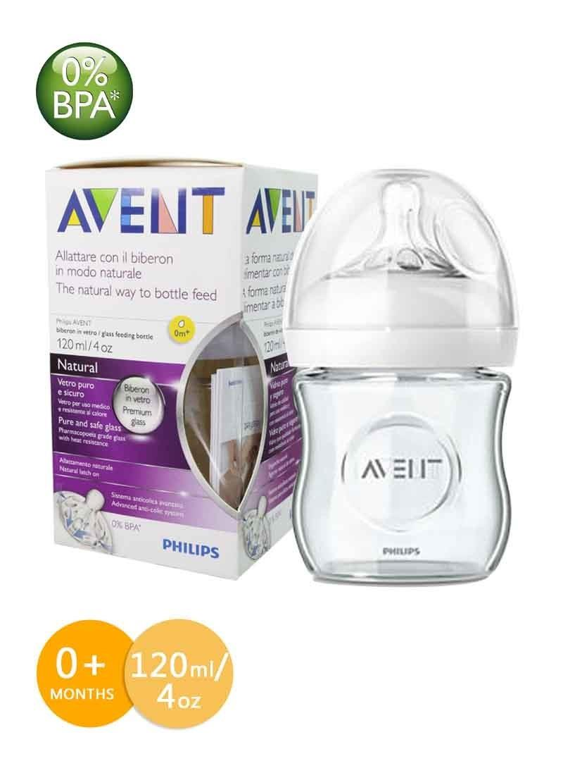 Philips Avent Natural Glass Bottle 4oz/120ml