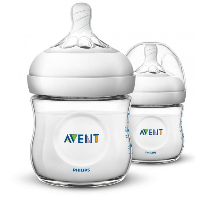 Philips Avent Natural PP Feeding Bottle 125ml/4oz Twin Pack
