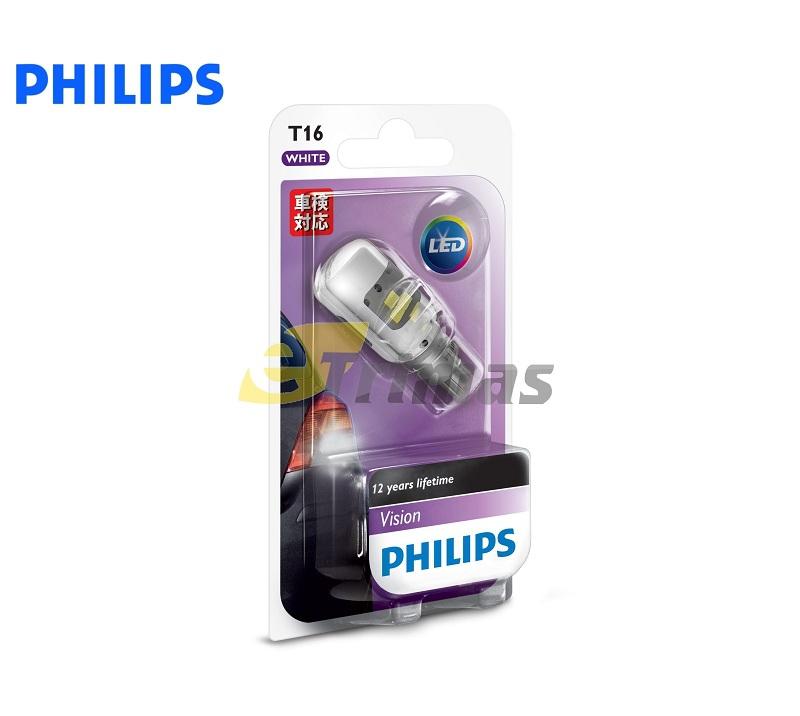 Philips Bright White Vision LED 921 T15 T16 Signal Interior Light Bulb