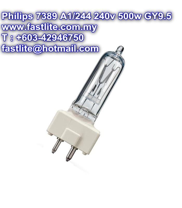 Philips Broadway 7389 A1/244 240v 500w GY9.5