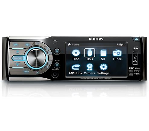 Philips CED320/98 HIGH END Car Single Din CD Video MP3 Player