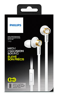 PHILIPS CLEAR NATURAL SOUND WIRED EARSET (TX2) BLK/WHT