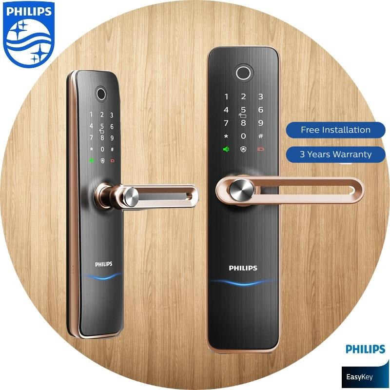 Philips Digital Lock Easy Key 7100 Smart Lever Digital Lock Copper