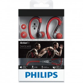 PHILIPS SPORT EARPHONE (SHQ3200) RED/PURPLE/WHT