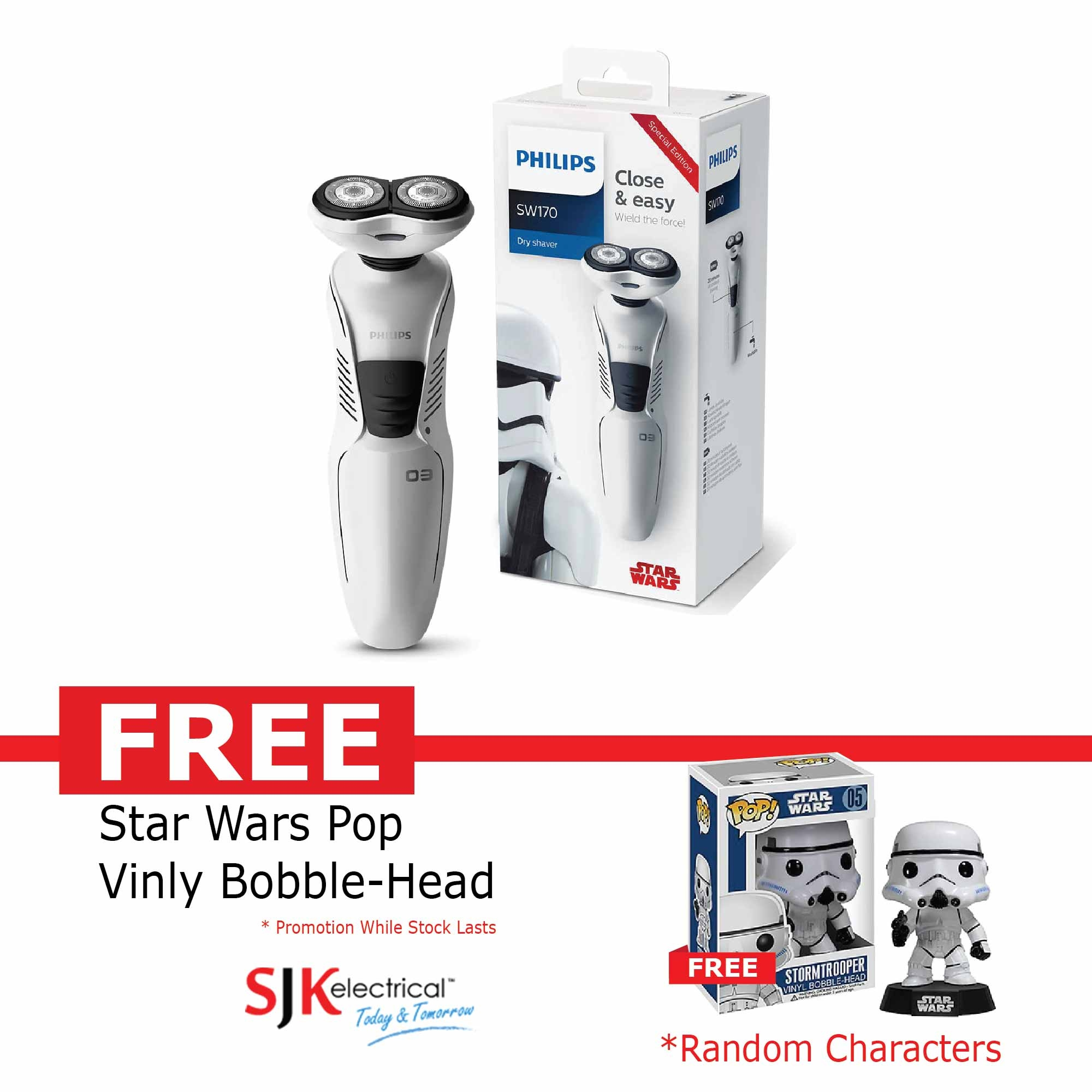 Philips Shaver Price Harga In Malaysia Lelong Pq206 Star Wars Sw170 Limited Edition Stormtroope
