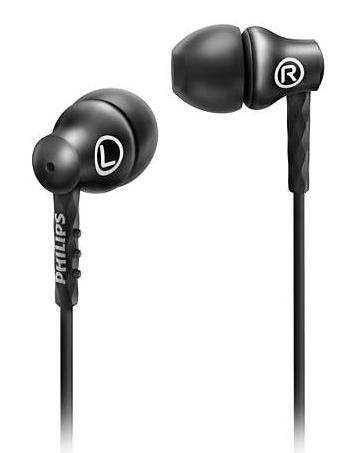 PHILIPS WIRED DEEP BASS RESPONSE EARPHONE SHE8100 (BLACK)