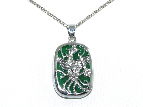 Phoenix Jade Pendant Necklace with Chain
