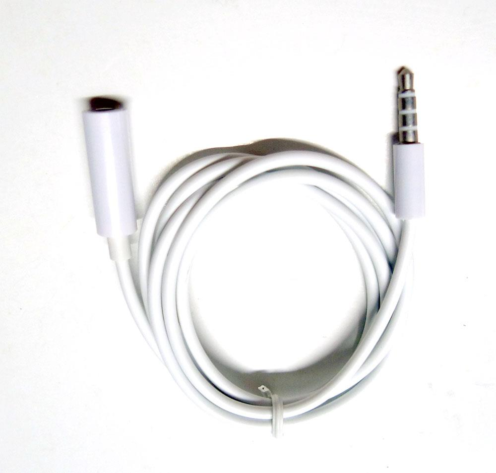 Phone 4 segment 3.5mm male to female extendsion cable micrphone audio