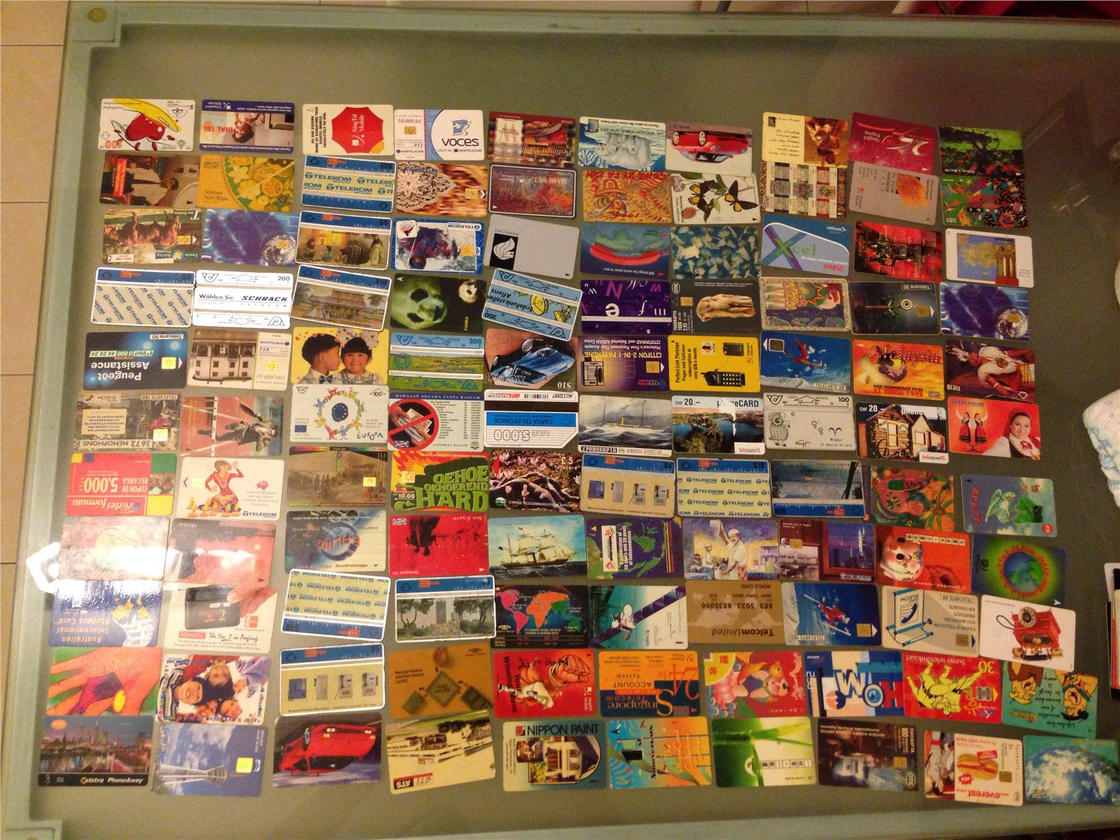 Used Phone Cards x 214 pieces
