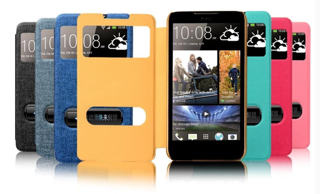 Phonemate HTC Desire 516 Flip Case Cover + Free Screen Protector