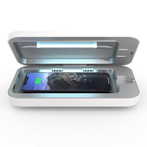 PhoneSoap Wireless UV Smartphone Sanitizer  & Qi Charger | Patented  & Clinica