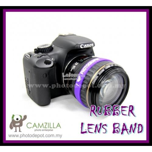 PHOTOGRAPHY Logo Silicone Purple Rubber Lens Band , Flash , Wrist Band