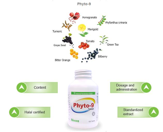 Phyto 9 Super Food 100Tabs (Health+Energy+Stamina+Memory)