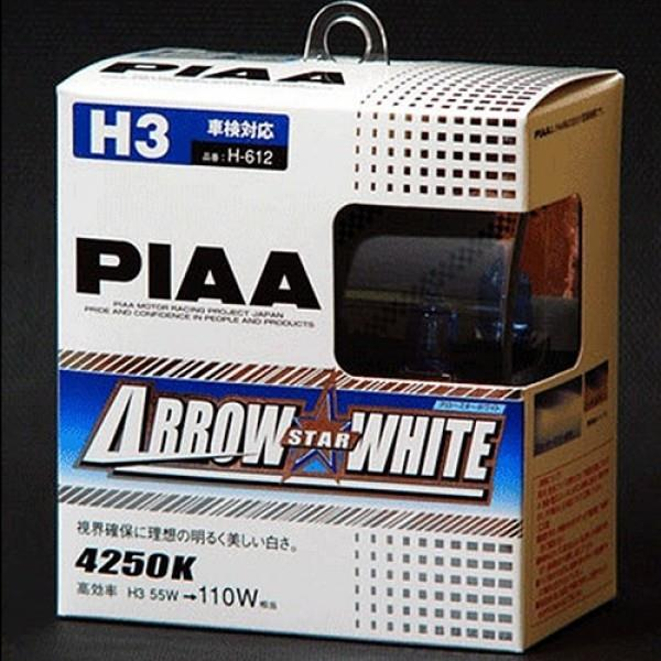 PIAA ARROW STAR WHITE 4250K Halogen Bulb H-612 (H3)
