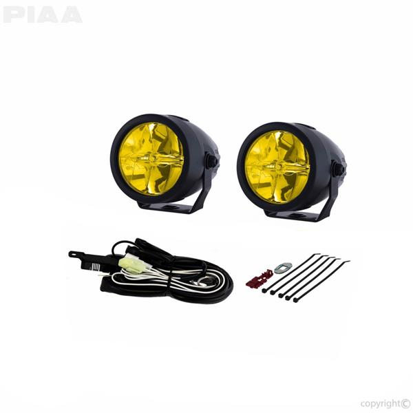 PIAA LP270 DK276X 2.75' 2500K YELLOW LED DRIVING LIGHT KIT 12V