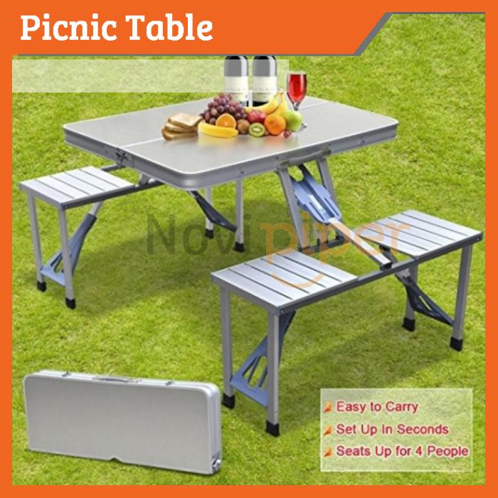 Astonishing Picnic Table Foldable Aluminium Outdoor Camping Table With 4 Chair Download Free Architecture Designs Scobabritishbridgeorg