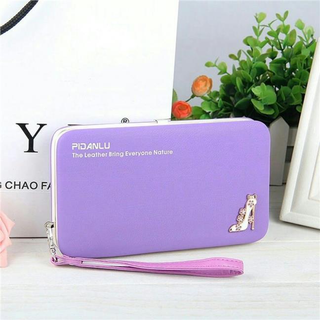Pidanlu Fashion Las Smartphone Purse Wallet Leather Feel