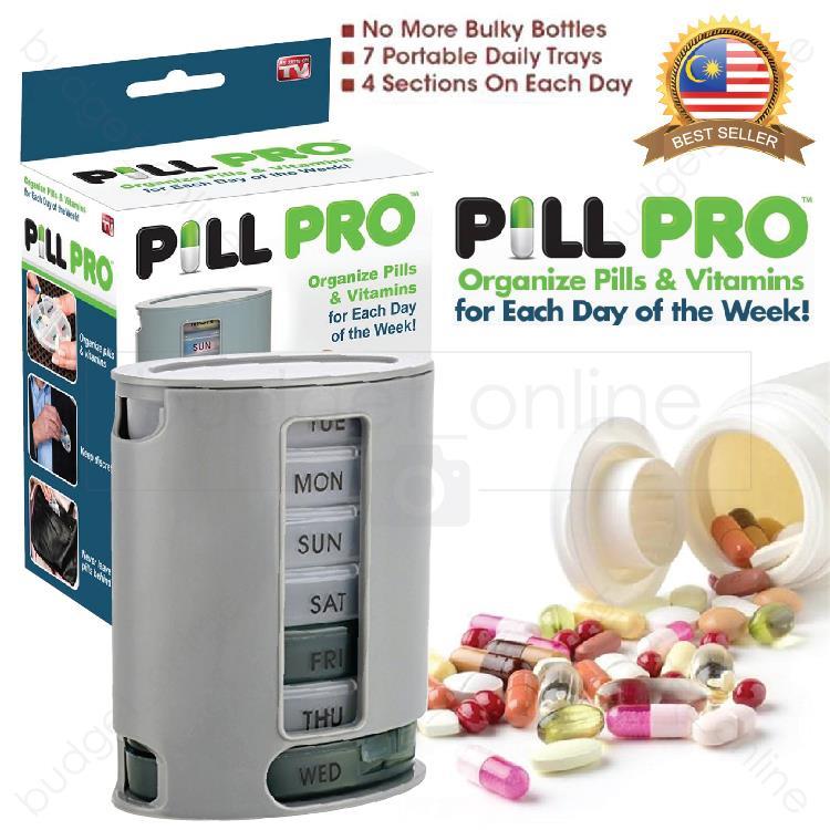 Pill Pro 7 Day Weekly Tablets Pills Organizer Medicine Storage Box