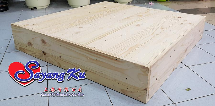 Pine Wood Large Pallet 1604 Pelamin Tray 76cm X 14cm