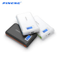 PINENG 10000MAH 2-OUTPUTS 2.1A POWER BANK (PN-966) BLK