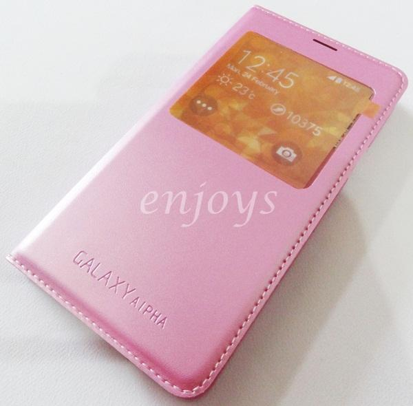 PINK S View Function Cover Case Samsung Galaxy Alpha G850F ~With IC