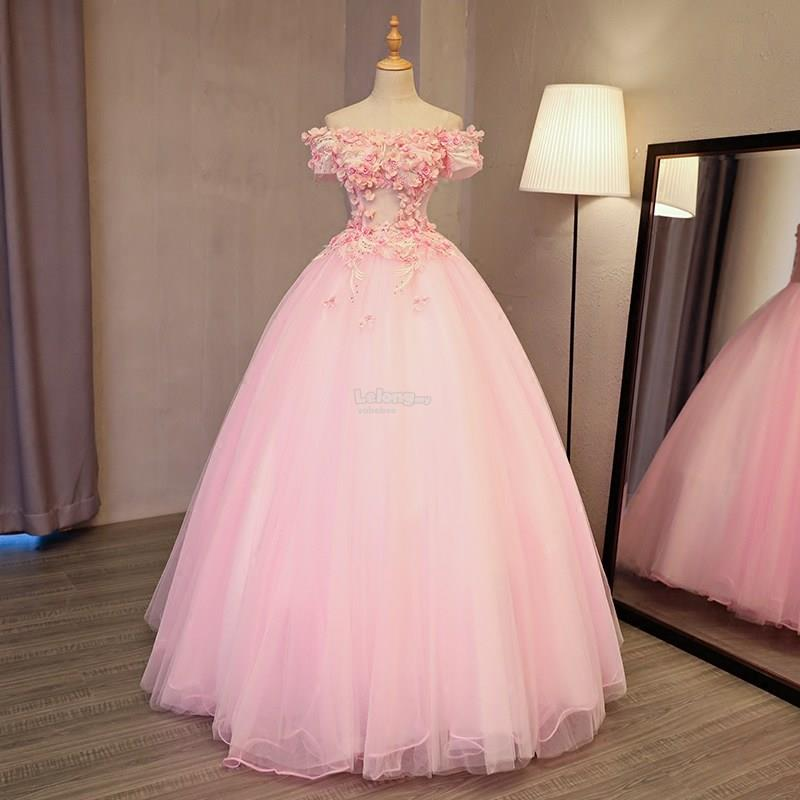 Pink wedding reception gown end 7 1 2019 3 15 pm for Where to get my wedding dress preserved