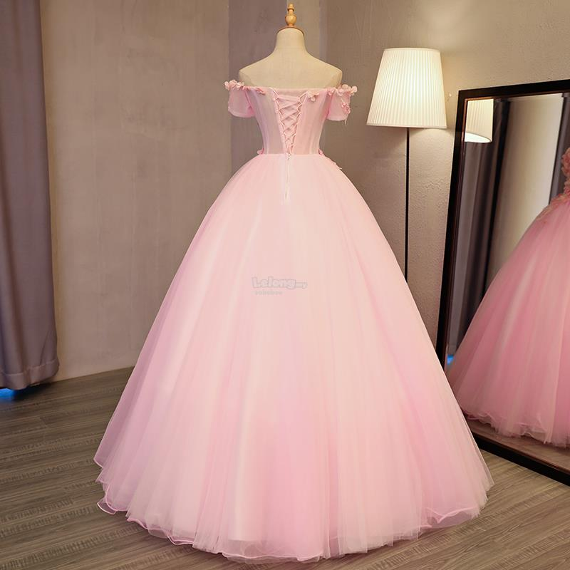 Pink Wedding Reception Gown