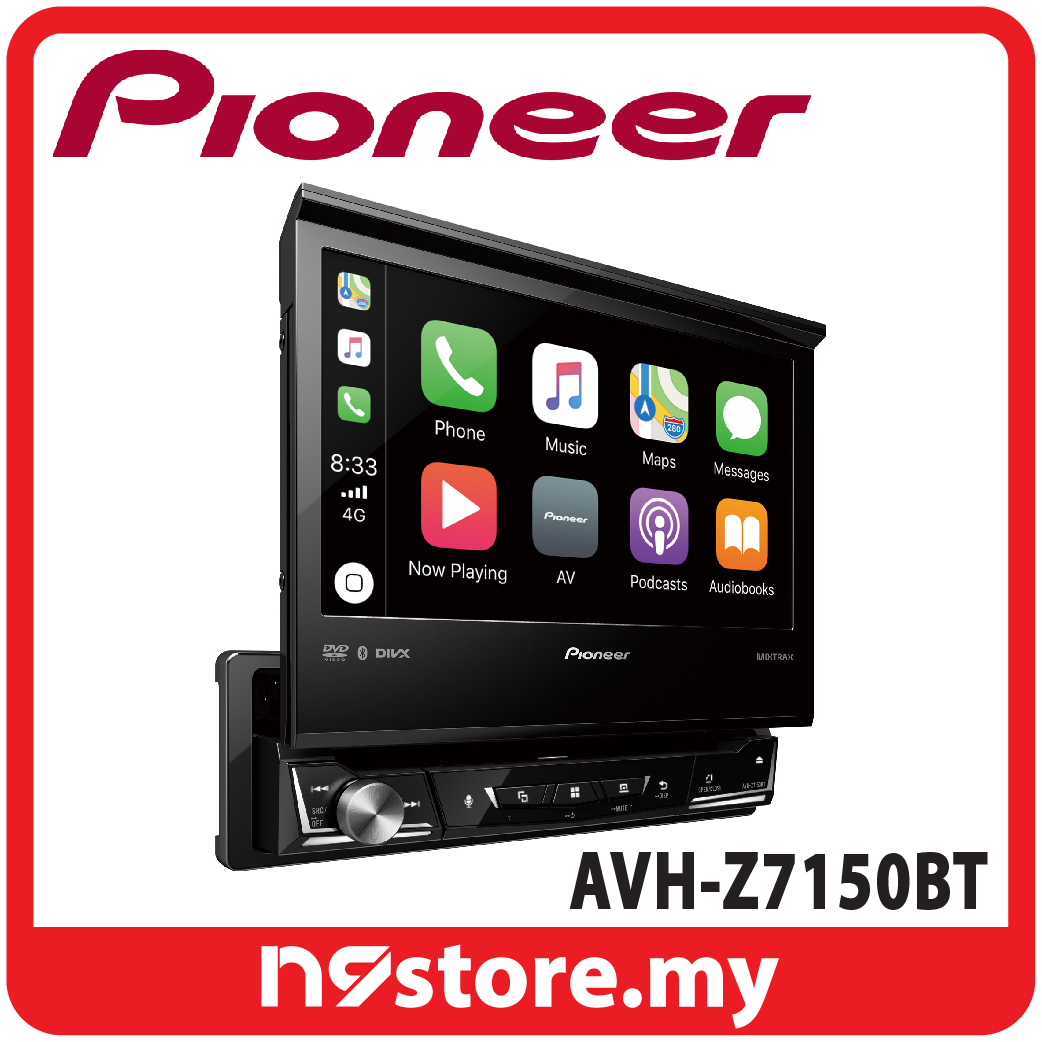 "Pioneer AVH-Z7150BT 7"" Single Din Apple Carplay Android Auto Bluetooth"