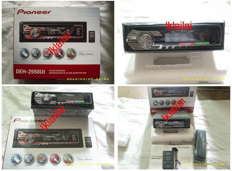 Pioneer DEH-P2550UI CD MP3 Player USB IPOD IPHONE WMA
