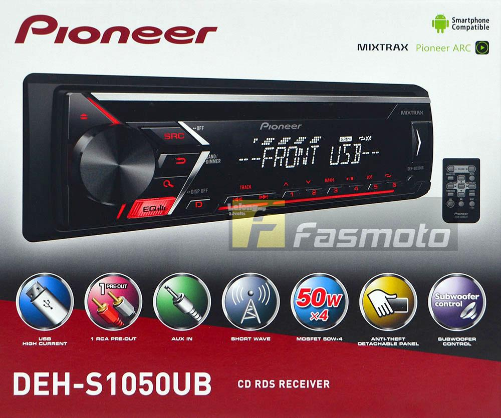 Pioneer deh s1050ub single din cd usb shortwave rds radio 1 pre out
