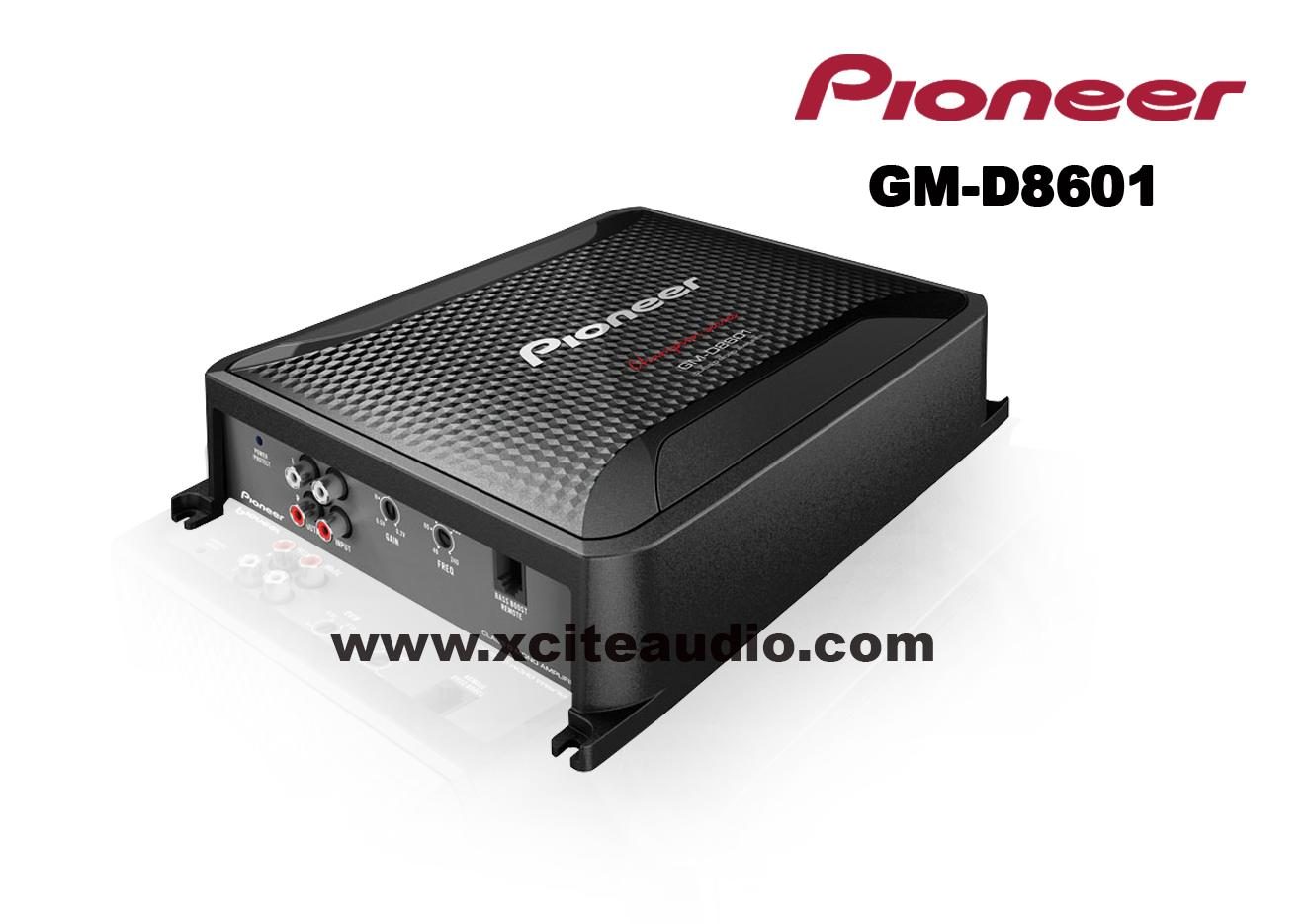 pioneer gm d8601. pioneer gm-d8601 class d 1600w monoblock 1 ch car amplifier stereo sub gm d8601