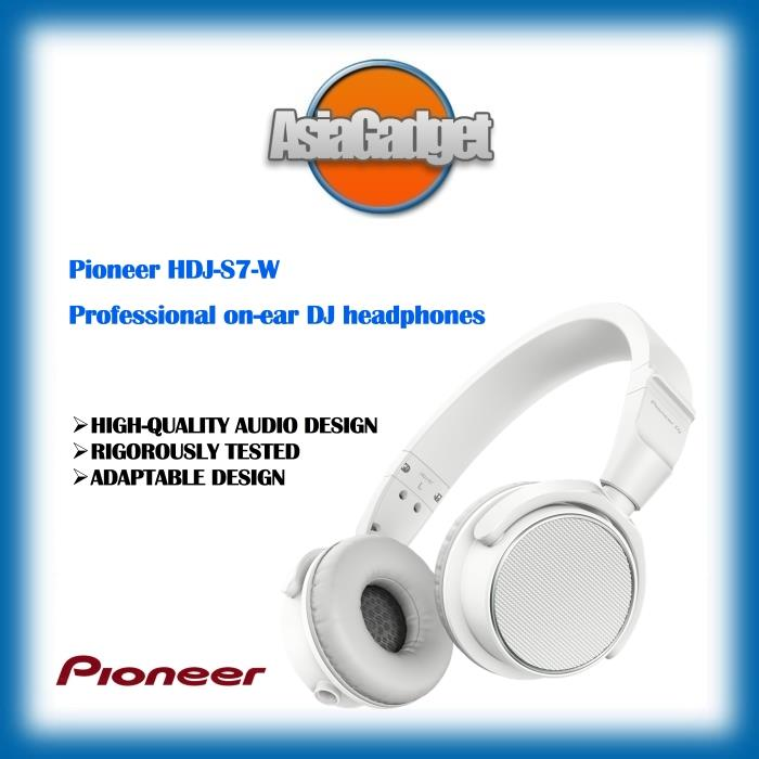 Pioneer HDJS7W Professional On-Ear DJ Headphones ( White )