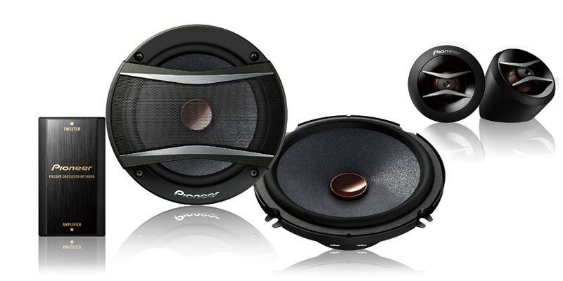 "Pioneer TS-A1606C A Series 6.5"" Car Component Speakers Set 50W RMS"
