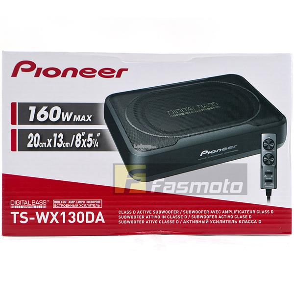 Pioneer TS-WX130DA Slim Under Seat Active Subwoofer with Bass Remote R