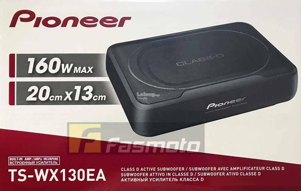 Pioneer TS-WX130EA Slim Under Seat Active Subwoofer without Bass Remot