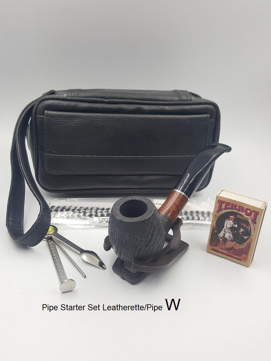 Pipe Starter Set Leatherette/Pipe (409104)(W)