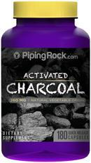Piping Rock, Activated Charcoal, 260mg, Detox (180 Caps)