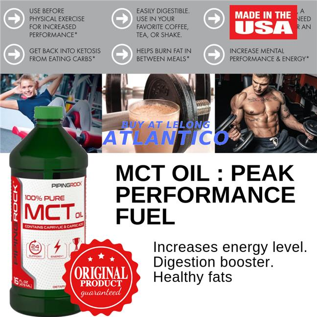 Piping Rock, MCT Oil (Medium Chain Triglycerides), 1473 mL Bottle