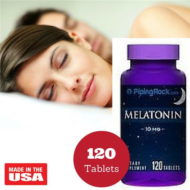 Piping Rock Melatonin 10 mg 120 Tablets (Sleeping Pills/ Ubat Tidur)